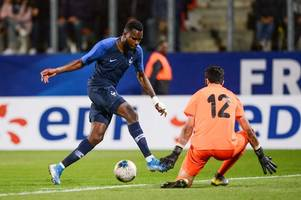 Watch as Odsonne Edouard scores for France under-21s against Slovakia