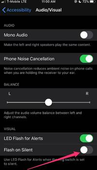 how to enable led flash notifications on your iphone, for visual notifications using accessibility features