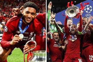 liverpool star joe gomez jokes he'll use champions league medal 'to get in places'
