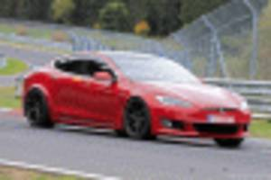 Tesla Model S Plaid prototypes sporting new modifications return to 'Ring