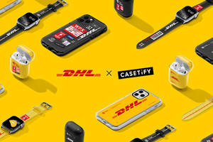new casetify tech accessories co-lab collection celebrates dhl's 50th anniversary