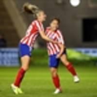 atlético hold city as lyon, arsenal, wolfsburg win