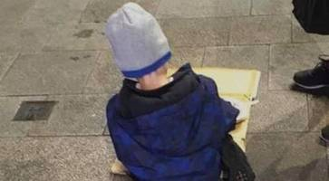 photo of five-year-old dublin homeless boy reaches hundreds of thousands