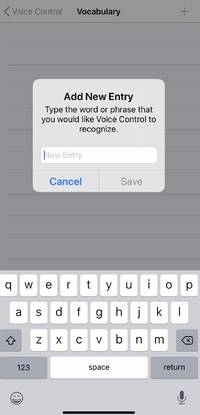 how to turn on and add custom words to the new voice control feature on an iphone with ios 13