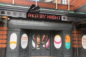 the pjs building at the waterfront has finally been replaced with new bar red by night