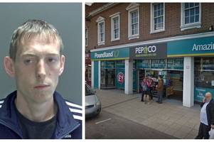 Crook stole almost £100 of cleaning products and sweets in Wisbech Poundland shoplifting spree