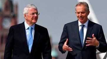 Tony Blair and John Major warn Boris Johnson's Brexit deal is threat to peace in Northern Ireland