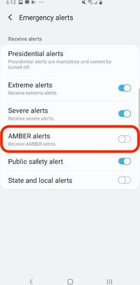 how to turn off amber alerts on your samsung galaxy s10, along with other public safety alerts (though you should keep them on)