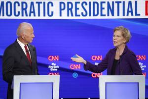 joe biden and elizabeth warren slammed mark zuckerberg for his remarks on free speech and said facebook is spreading lies that could impact the 2020 election (fb)