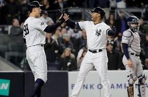 Aaron Hicks three-run shot off foul pole caps Yankees' four-run first inning off Verlander