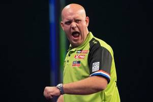 champions league of darts schedule - start times for matches and list of players
