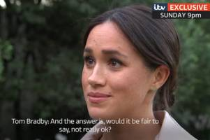 Meghan Markle admits she's 'not ok' during emotional interview in Africa