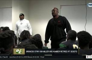 von miller has his number retired at desoto | high school scoreboard live