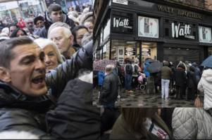 hundreds of watt brothers shoppers furious after queuing from 5am expecting closing down sale
