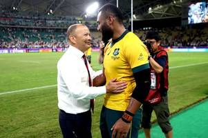 the rugby world cup afternoon headlines as australia call for compassion, eddie jones feels little sympathy and wales tipped for comfortable win