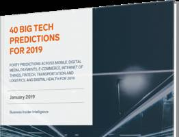 40 big tech predictions for 2019