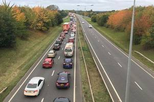 Live updates as road traffic accident blocks A50 near the Bonnie Prince