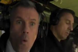 liverpool fans can't get enough of jamie carragher's pic mocking gary neville
