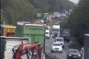 Live updates as A38 five-car crash causes miles of queues