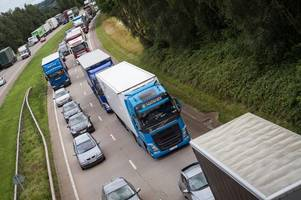 Live updates as accident causes long delays on A50 near Derby