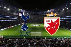 Tottenham vs Red Star Belgrade live: Kick-off time, live stream, confirmed teams, goal updates