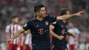 olympiacos 2-3 bayern munich: report, ratings & reaction as lewandowski makes history in athens