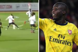 arsenal fans want nicolas pepe replaced by 16-year-old wonderkid after debut goal