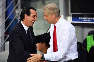 unai emery opens up on the arsene wenger comparisons and whether his arsenal team are better