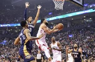 vanvleet scores career-high 34, raptors top pelicans 130-122