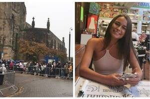 mourners line the streets of staffordshire town for funeral of 'beautiful' keeley bunker, 20, who was found dead in wood