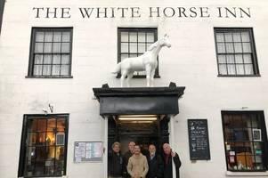 popular white horse returns to bampton pub