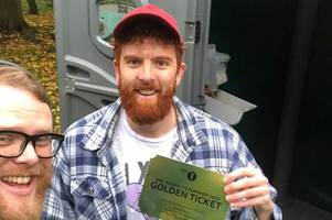 glastonbury festival: man finds 'golden ticket' to sold-out 50th anniversary bash in welsh toilet