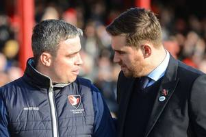what cheltenham manager michael duff said about grimsby town and michael jolley