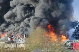 remember this massive fire? prosecutors drop charges against stoke-on-trent recycling firm and two men