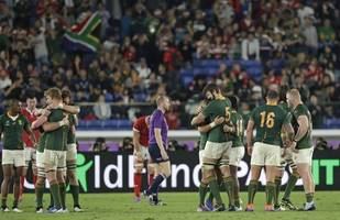 rugby/ springboks eke out 19-16 win over wales, reach world cup final