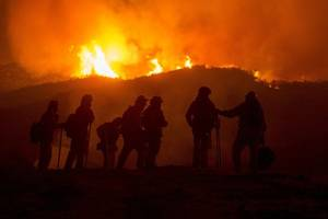 hell on earth: california declares statewide emergency as fires rage and thousands flee