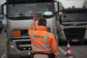 migrants found alive in refrigerated lorry in belgium