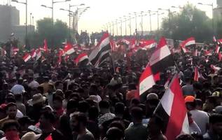 tens of thousands pour into baghdad's tahrir square as iraq protests continue