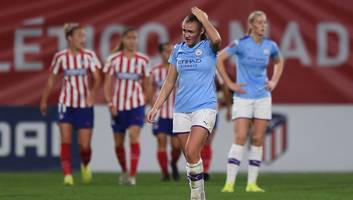 man city knocked out of women's champions league by atletico madrid for second year in a row