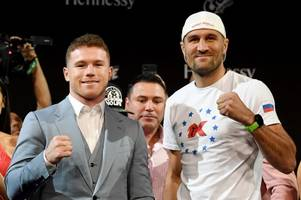 sergey kovalev initially misses weight for crunch canelo alvarez clash
