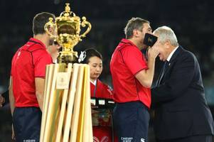 england rugby stars snub clapping referee jerome garces after world cup final loss