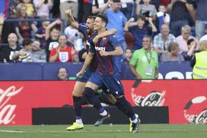 levante stun barcelona 3-1 after lionel messi scores opener