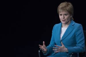 scotland's future 'on the line', says sturgeon at independence rally