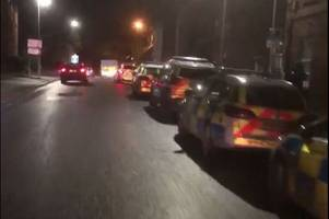 six men arrested after incident in yeovil town centre