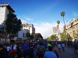 strong earthquake of 6.0 magnitude rattles buildings in chile amid anti-govt protests