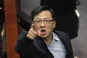 Pro-Beijing lawmaker in Hong Kong stabbed while campaigning