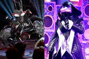 'the masked singer': black widow and penguin reveal the songs they never got to sing