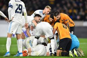'difficult' - raul jimenez issues apology after knocking out slovan bratislava player