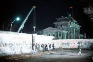 'the gates in the wall stand open wide.' what happened the day the berlin wall fell