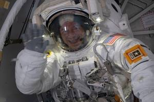 This astronaut cast his vote from the International Space Station